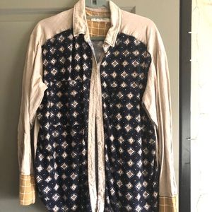 Free People Moroccan print shirt